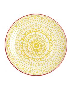 "This is an image of a Olympia Fresca Yellow Plate - 268mm 10 12"" (Box 4)"