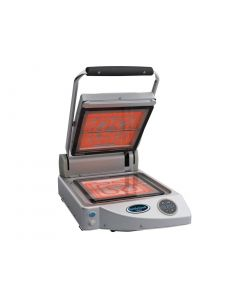 This is an image of a Unox SpidoCook Digital Single Transparent Plate Contact Grill XP010ET