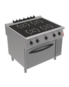 This is an image of a Falcon F900 Induction Range with Fan Assisted Oven on Feet i91104C