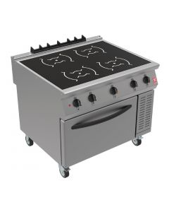 This is an image of a Falcon F900 Induction Range with Fan Assisted Oven on Castors i91104C