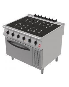 This is an image of a Falcon F900 Induction Range with Fan Assisted Oven on Feet i91105C