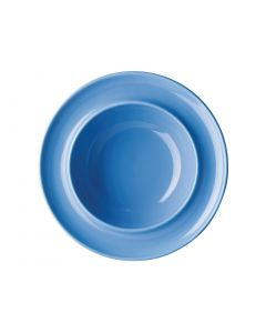 """This is an image of a Olympia Heritage Blue Raised Rim Bowl - 8"""" (Box 4)"""