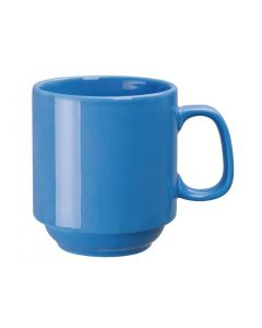 This is an image of a Olympia Heritage Blue Single Handled Stacking Mug - 10oz (Box 6)