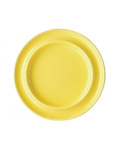 "This is an image of a Olympia Heritage Yellow Raised Rim Plate - 8"" (Box 4)"