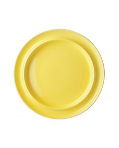 "This is an image of a Olympia Heritage Yellow Raised Rim Plate - 10"" (Box 4)"