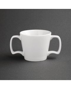 This is an image of a Olympia Heritage White Double Handled Mug - 10oz (Box 6)
