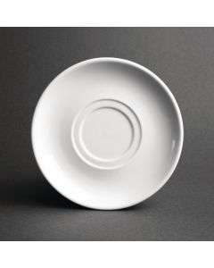 This is an image of a Olympia Heritage White Double Well Saucer - (Box 6)