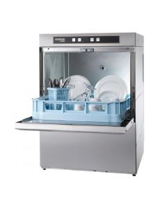 This is an image of a Hobart Ecomax Dishwasher F504S with Water Softener and Install