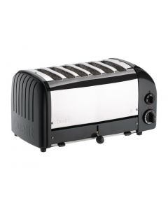 This is an image of a Dualit Classic Vario 6 Slot Toaster - Black