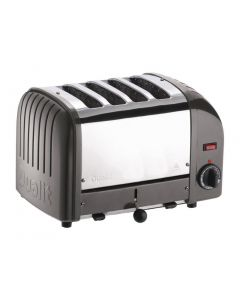 This is an image of a Dualit Classic Vario 4 Slot Toaster - Charcoal
