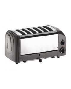 This is an image of a Dualit Classic Vario 6 Slot Toaster - Charcoal