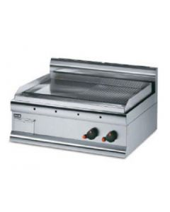 This is an image of a Lincat Griddle Half-ribbed Dual Zone 415Hx750Wx600D 6kW (Direct)