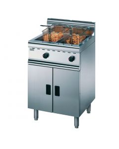 This is an image of a Lincat Silverlink 600 Free Standing Twin Natural Gas Fryer J10N