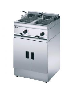 This is an image of a Lincat Silverlink 600 Free Standing Double Electric Fryer J18