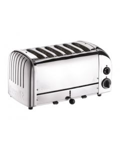 This is an image of a Dualit Stainless Plus 6 Slot Toaster