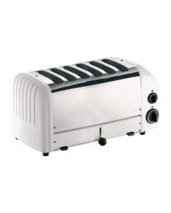 This is an image of a Dualit 6 Slice Vario Toaster White 60146