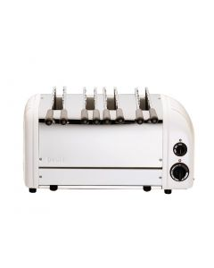 This is an image of a Dualit 4 Slice Sandwich Toaster White 41034