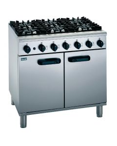 This is an image of a Lincat Silverlink 600 Natural Gas 6 Burner Range SLR9N