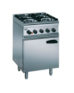 This is an image of a Lincat Silverlink 4 Burner Gas Range - Nat Gas (Direct)