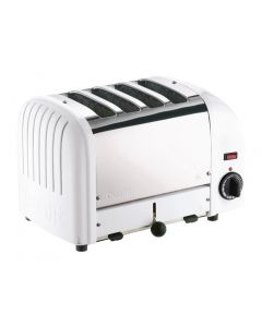 This is an image of a Dualit 4 Slice Vario Toaster White 40355