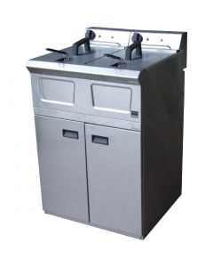 This is an image of a Falcon Pro-Lite Free Standing Double Electric Fryer LD48