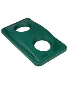 This is an image of a Rubbermaid Green Bottle Lid