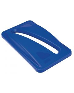 This is an image of a Rubbermaid Blue Paper Lid
