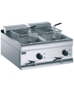 This is an image of a Lincat Electric Counter Top Fryer Twin Tank 2 Baskets - 2x6kW (Direct)
