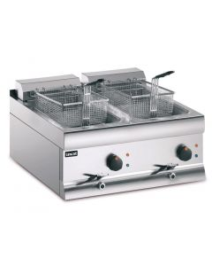 This is an image of a Lincat Electric Counter Top Fryer Twin Tank 2 Baskets - 2x9kW (Direct)