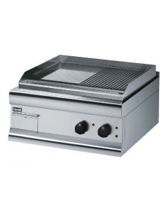 This is an image of a Lincat Electric Griddle Half Ribbed 415Hx600Wx600D 4kW (Direct)