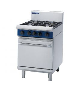 This is an image of a Blue Seal Evolution 4 Burner Static Oven LPG - 600mm (Direct)