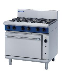 This is an image of a Blue Seal Evolution 6 Burner Convection Oven LPG - 900mm (Direct)
