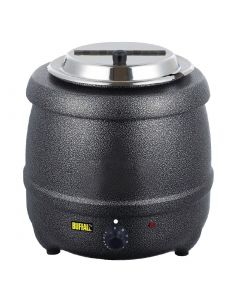 This is an image of a Buffalo Graphite Grey Soup Kettle