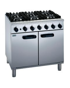 This is an image of a Lincat Medium Duty 6 Burner Propane Gas Oven Range LMR9P