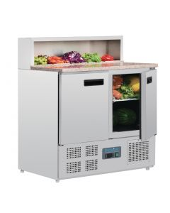 This is an image of a Polar Refrigerated Pizza Prep Counter 288Ltr