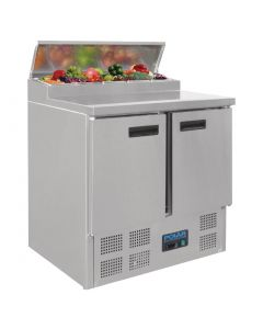 This is an image of a Polar Refrigerated Pizza and Salad Prep Counter 254Ltr