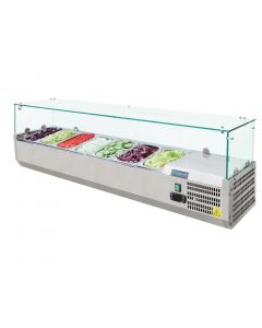 This is an image of a Polar Refrigerated Countertop Servery Prep Unit 7x 14GN