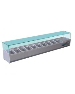 This is an image of a Polar Refrigerated Countertop Servery Prep Unit 10x 14GN