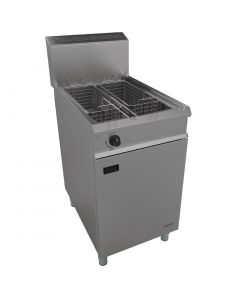 This is an image of a Falcon Chieftain Twin Basket Propane Gas Fryer G1838X