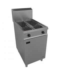 This is an image of a Falcon Chieftain Twin Pan Propane Gas Fryer G1848X