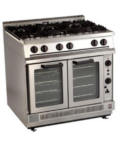 This is an image of a Falcon Dominator 6 Burner Convection Natural Gas Oven Range G2102