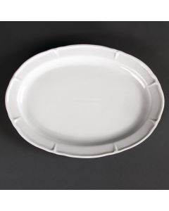 """This is an image of a Olympia Rosa Oval Plate - 295x214x28mm 11 12x8 12"""" (Box 4)"""