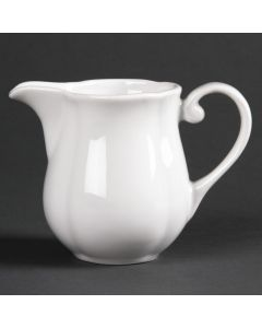 This is an image of a Olympia Rosa Milk Jug - 140ml 5oz (Box 6)