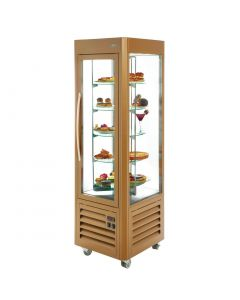 This is an image of a Roller Grill Revolving Display Fridge Gold 360 Ltr