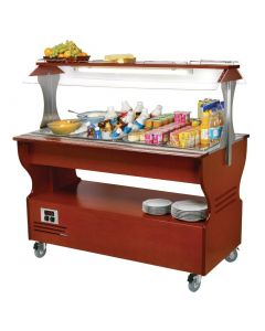 This is an image of a Roller Grill Chilled Salad Bar Dark SB40F