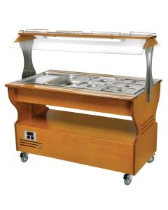 This is an image of a Roller Grill Chilled  Warm Salad Bar Light SB40M