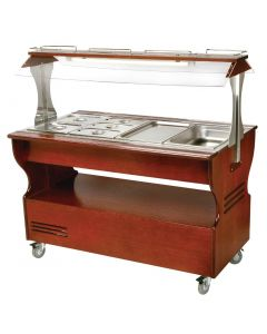 This is an image of a Roller Grill Warm Salad Bar Dark SB40C