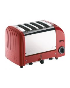 This is an image of a Dualit Vario Toaster 4 Slot Red