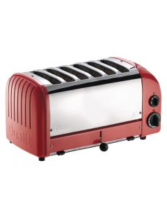 This is an image of a Dualit Vario Toaster 6 Slot Red
