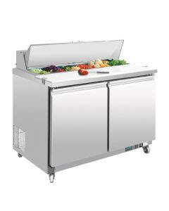 This is an image of a Polar 2 Door Preparation Counter 405Ltr
